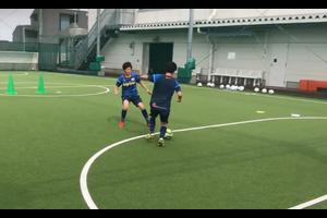 【サッカー練習メニュー】1vs1 ドリブル 2ゴール