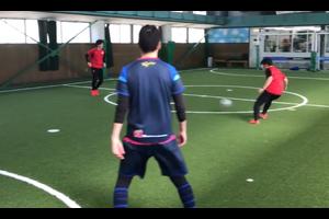 【サッカー練習メニュー】ゴールを意識したパス交換からシュート