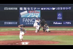4回裏、代打・山下にもタイムリーが飛び出し阪神を引き離す!