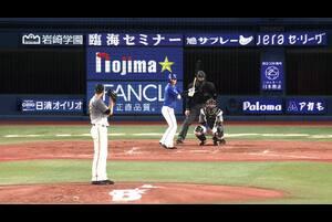 4回裏、神里選手が3号ソロホームランで同点に追いつく!
