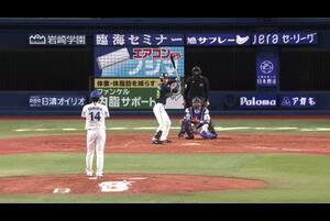 5回表、石田選手が三者三振に仕留める!