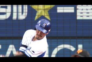 7回裏、梶谷選手の第18号満塁ホームランで逆転!