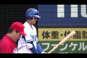 2回裏、田中俊選手がレフトへの犠牲フライで先制点を決める!!