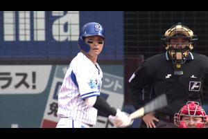 3回裏、神里選手が先制となる第1号ソロホームランを放つ!!
