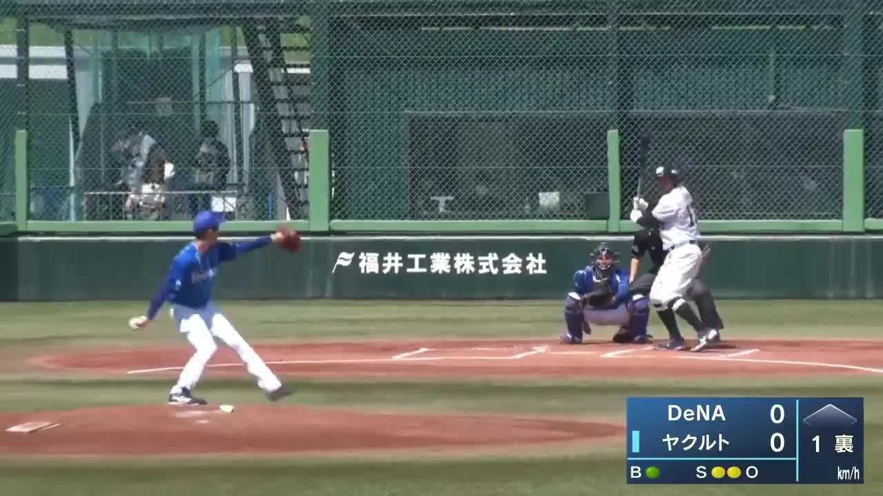【イースタン・リーグ】先頭打者!ヤクルト・オスナ選手の来日初ホームラン!!