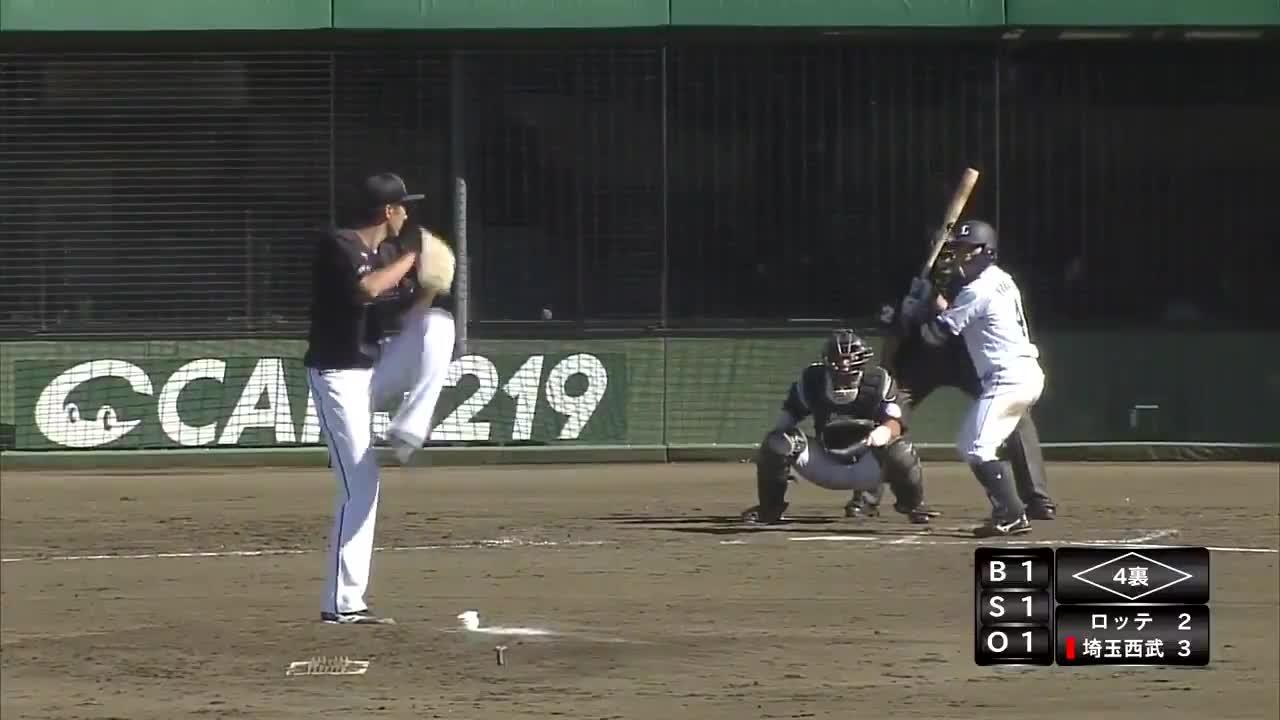 【イースタン・リーグ】打球はレフトスタンドへ一直線!!西武・山野辺翔選手、本日3安打目はホームラン‼‼