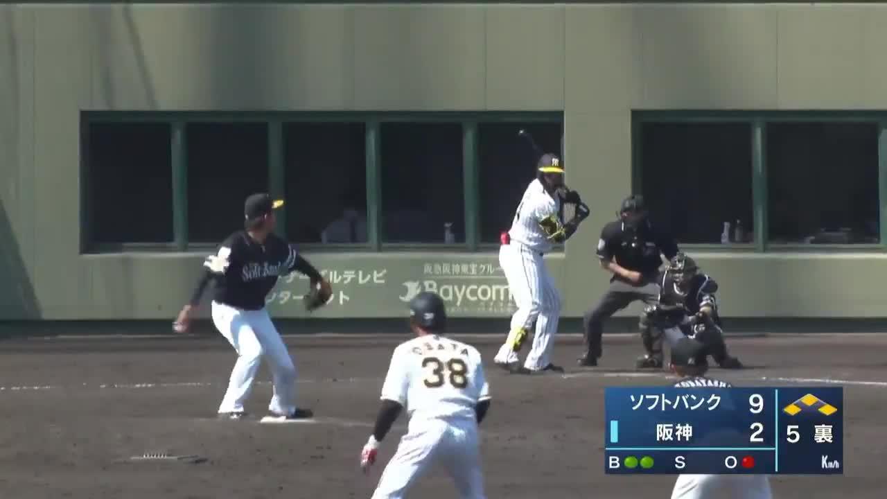 【ウエスタン・リーグ】来日初実戦!阪神・ロハス選手の初安打はタイムリーヒット!!