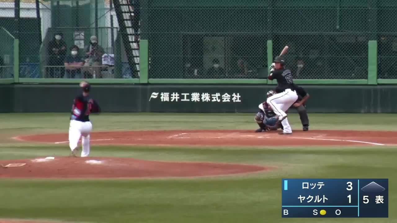 【イースタン・リーグ】ロッテ・茶谷健太選手バックスクリーンに飛び込むホームランで追加点‼‼