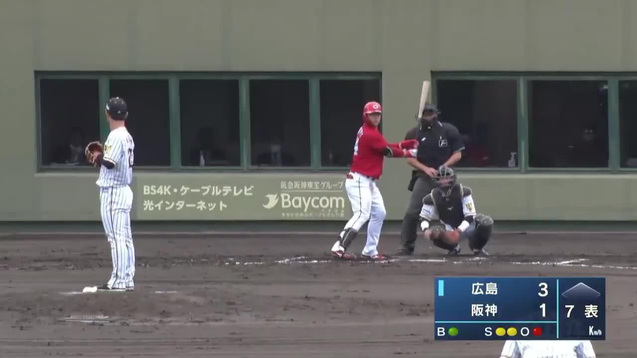 【ウエスタン・リーグ】調整登板、阪神・伊藤将司投手の奪三振!!
