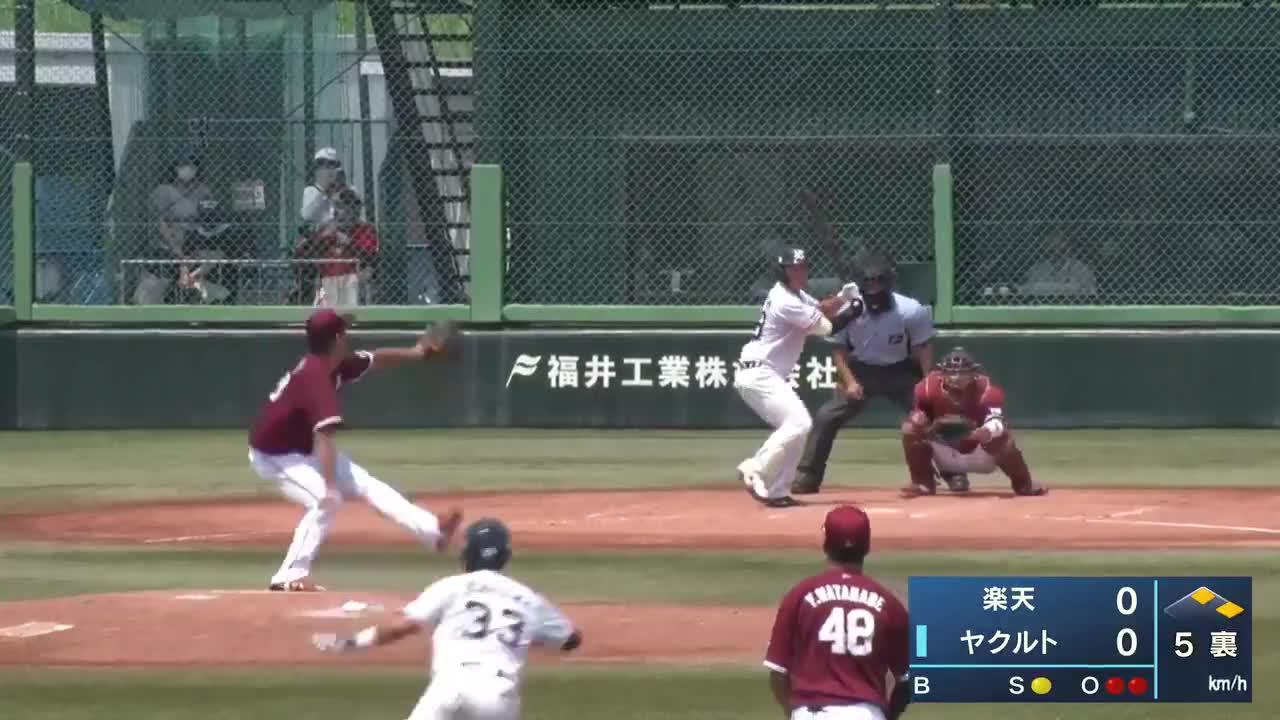【イースタン・リーグ】均衡を破る一打!長岡秀樹選手のタイムリーツーベース!!