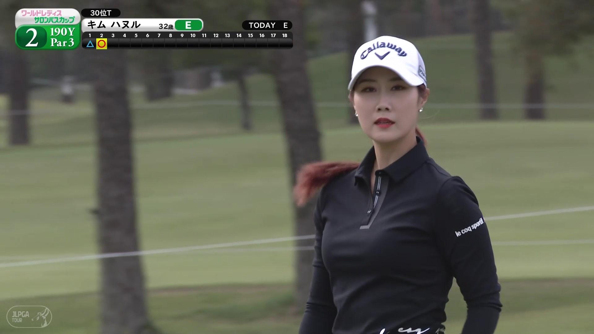 【女子ゴルフ】キム ハヌル 歴代チャンピオン、Par3でのスーパーショット!〈ワールドレディスチャンピオンシップサロンパスカップ2日目〉