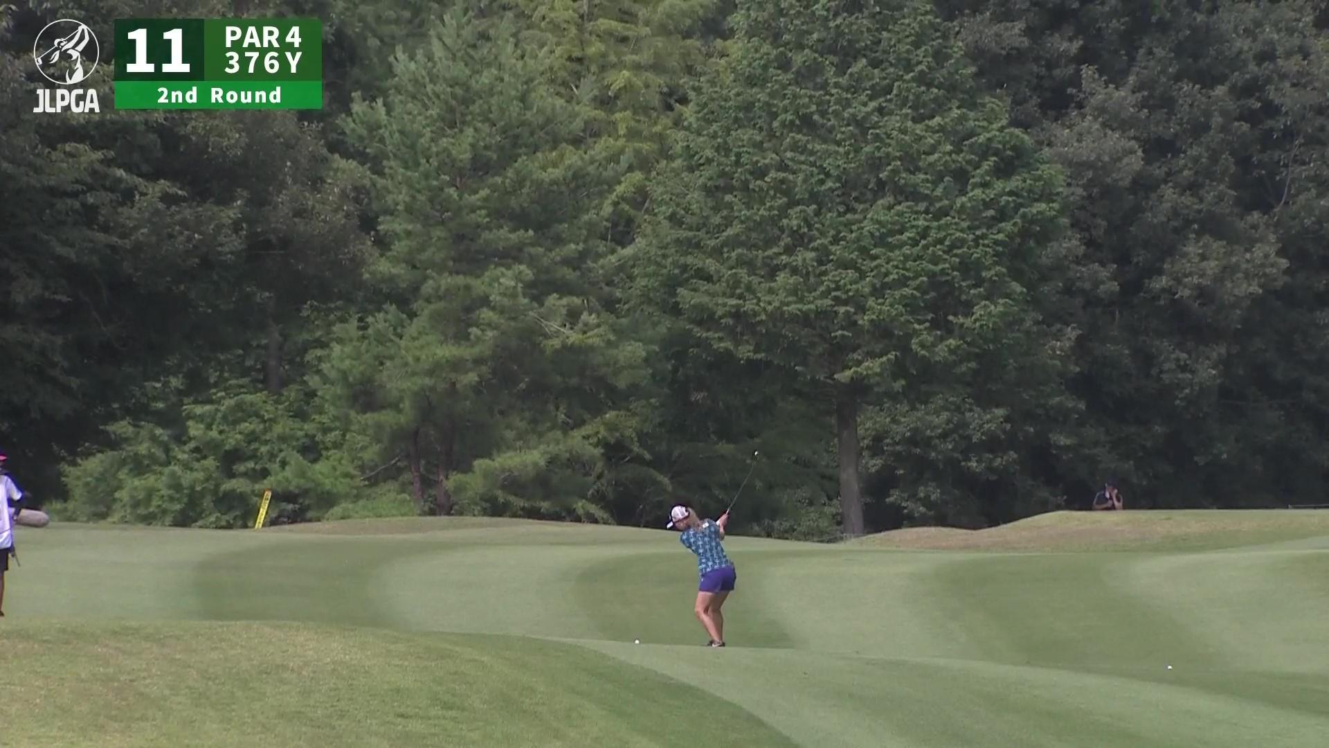 【女子ゴルフ】上田 桃子 コントロール抜群!!! 見事な2ndショット!!!〈楽天スーパーレディース〉