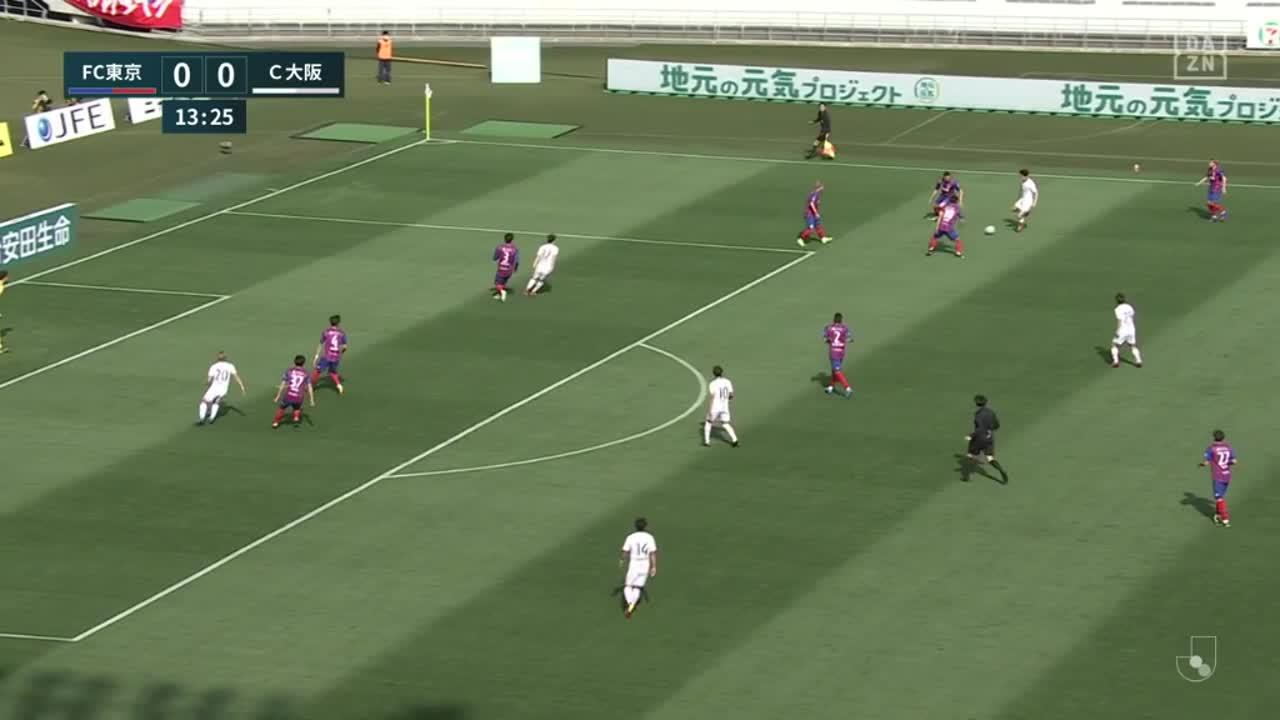 C大阪、大久保嘉人が後方からのクロスにヘディングで合わせて先制ゴール!【第2節】FC東京 vs C大阪