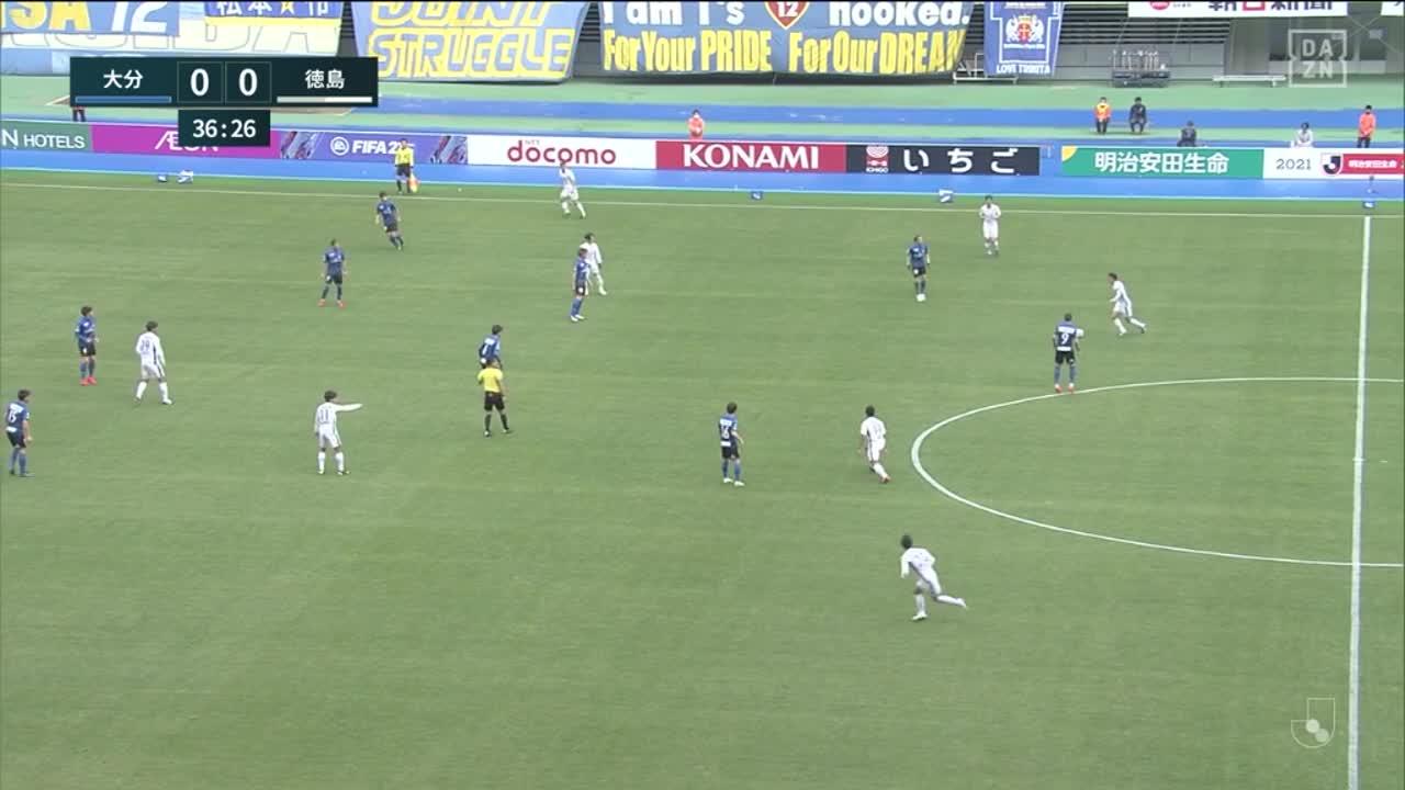 徳島、岸本武流がこぼれ球を決めて先制!【第1節】大分 vs 徳島