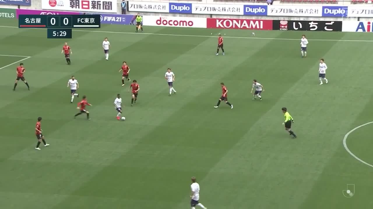 名古屋、ランゲラックが相手の決定機を2連続セーブ!【第7節】名古屋 vs FC東京