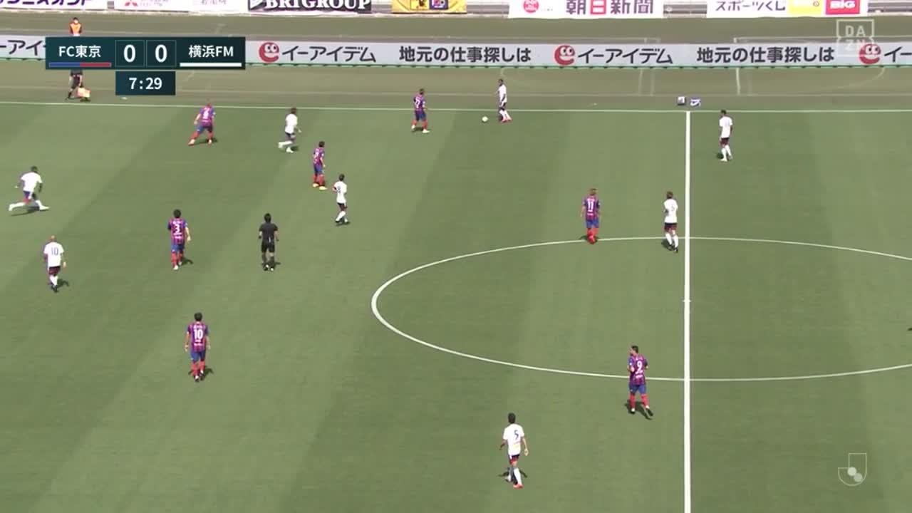 横浜FM、ドリブルで切り込んだエウベルのパスからはオナイウ阿道が冷静に決めて先制!【第12節】FC東京 vs 横浜FM