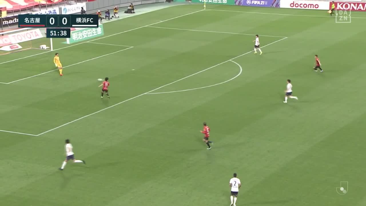 名古屋、吉田豊の絶妙なクロスに反応した前田直輝が押し込み先制!【第5節】名古屋 vs 横浜FC