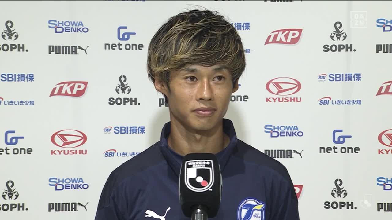 大分、決勝点を挙げた町田也真人の試合後インタビュー【第31節】大分 vs C大阪