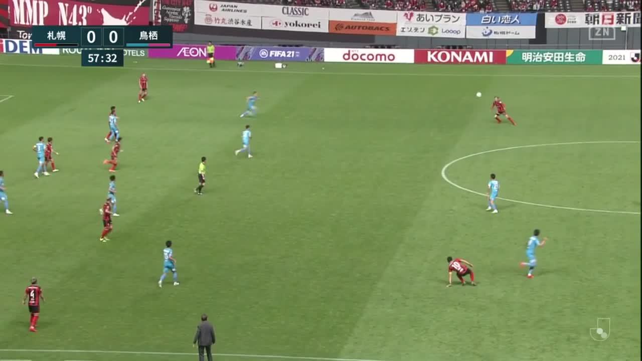 札幌、菅大輝のゴールはVAR判定によって認められず【第16節】札幌 vs 鳥栖