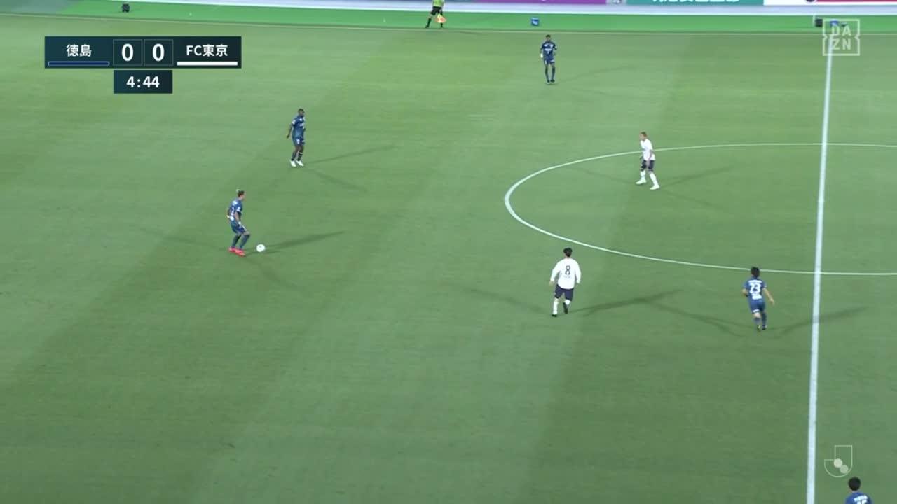 FC東京、田川亨介がプレスをかけてボールを奪い相手GKをかわして蹴り込み先制!【第19節】徳島 vs FC東京