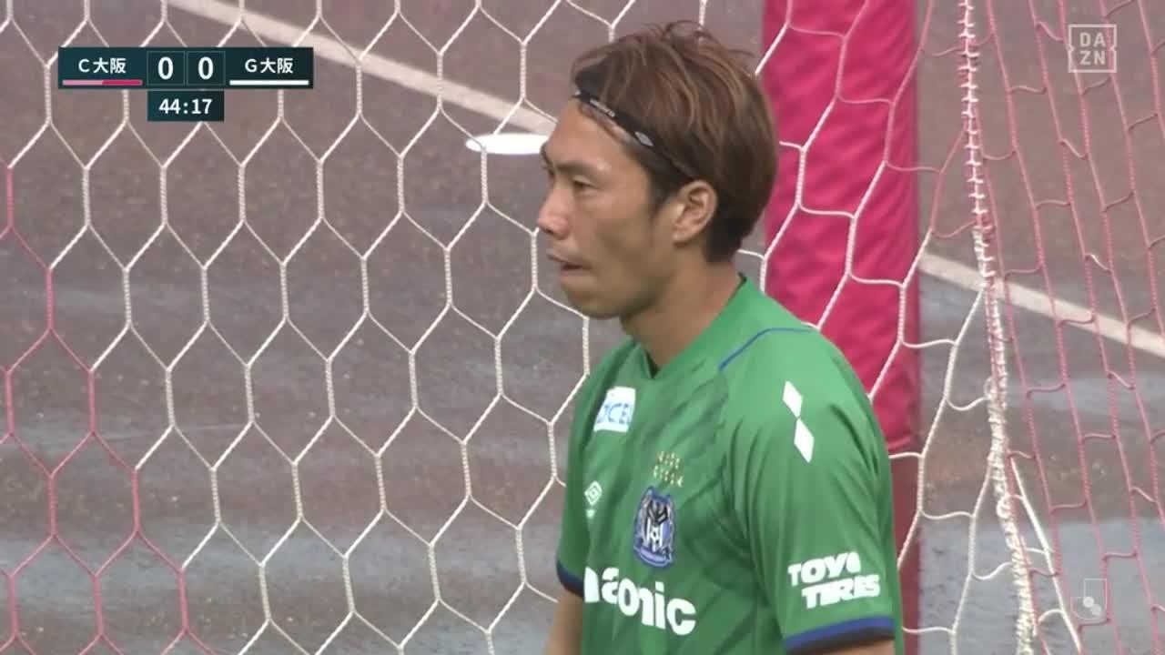 C大阪・豊川雄太、PKで放ったグラウンダーシュートは左ポストに阻まれる【第12節】C大阪 vs G大阪