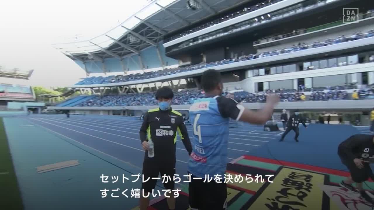 川崎F、先制ゴールを決めたジェジエウの試合後インタビュー【第12節】川崎F vs 名古屋