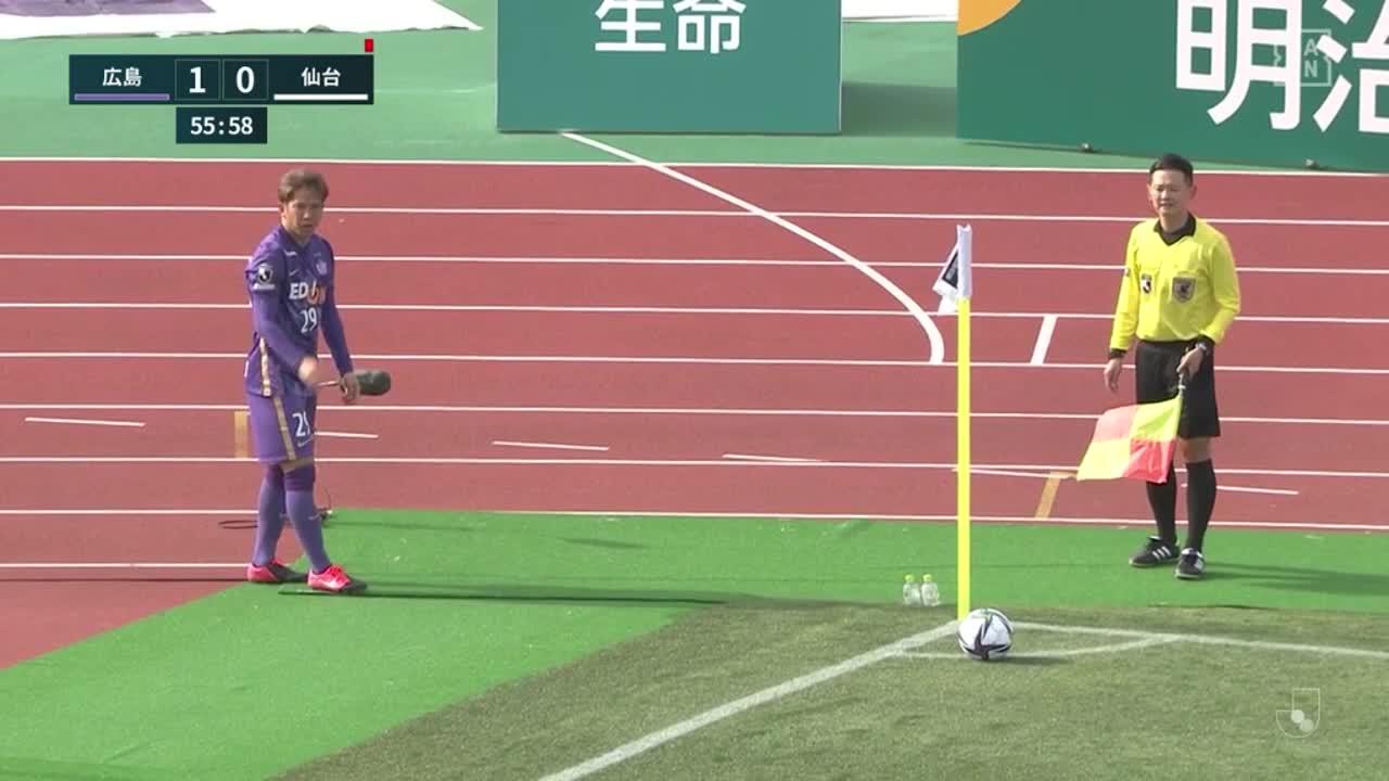 仙台・ヤクブ スウォビィク、ナイスセーブで追加点を阻止!【第1節】広島 vs 仙台
