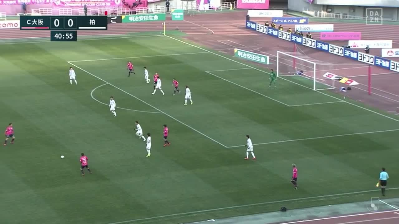 C大阪、大久保嘉人がヘディングで先制ゴール!J1通算186点目!【第1節】C大阪 vs 柏