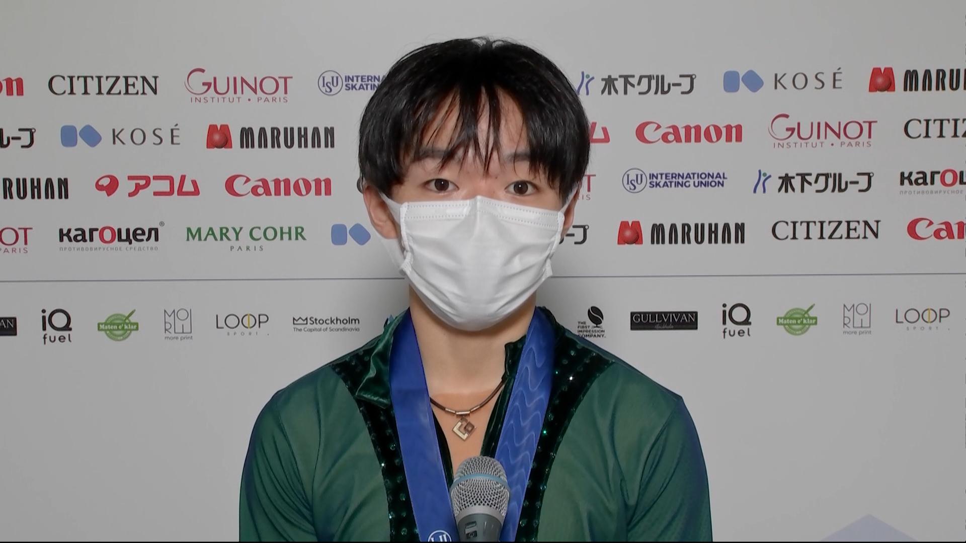 【世界フィギュア選手権2021】3/27 男子FS 鍵山優真選手 インタビュー