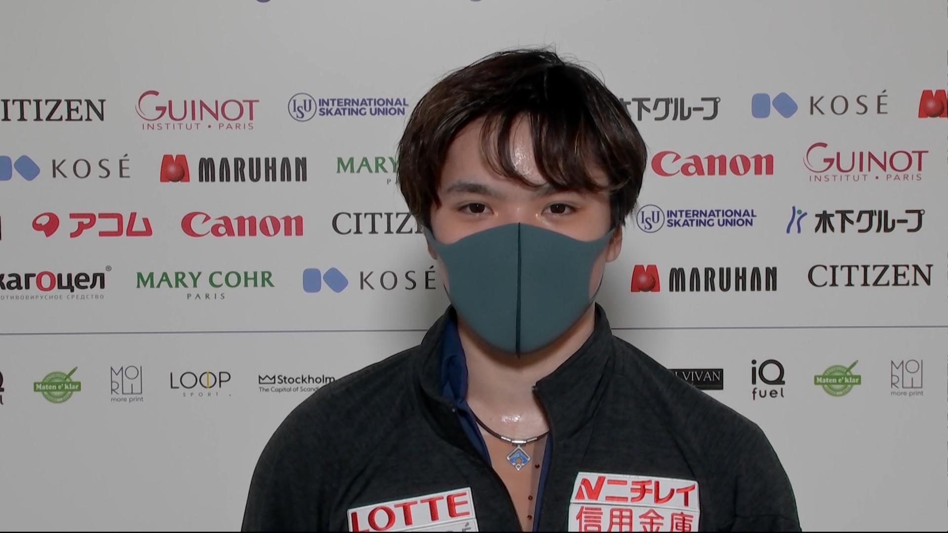 【世界フィギュア選手権2021】3/27 男子FS 宇野昌磨選手 インタビュー