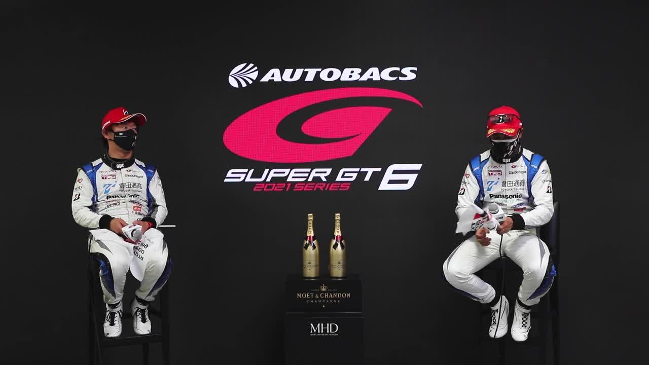 【優勝ドライバーインタビュー/GT300】嵯峨宏紀・中山友貴 No.31 TOYOTA GR SPORT PRIUS PHV apr GT / 2021 AUTOBACS SUPER GT Rd.6 AUTOPOLIS GT 300km RACE