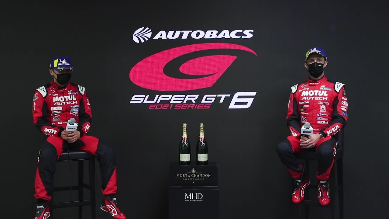 【3位表彰台/GT500】松田次生/ロニー・クインタレッリ インタビュー No.23 MOTUL AUTECH GT-R / 2021 AUTOBACS SUPER GT Rd.6 AUTOPOLIS GT 300km RACE