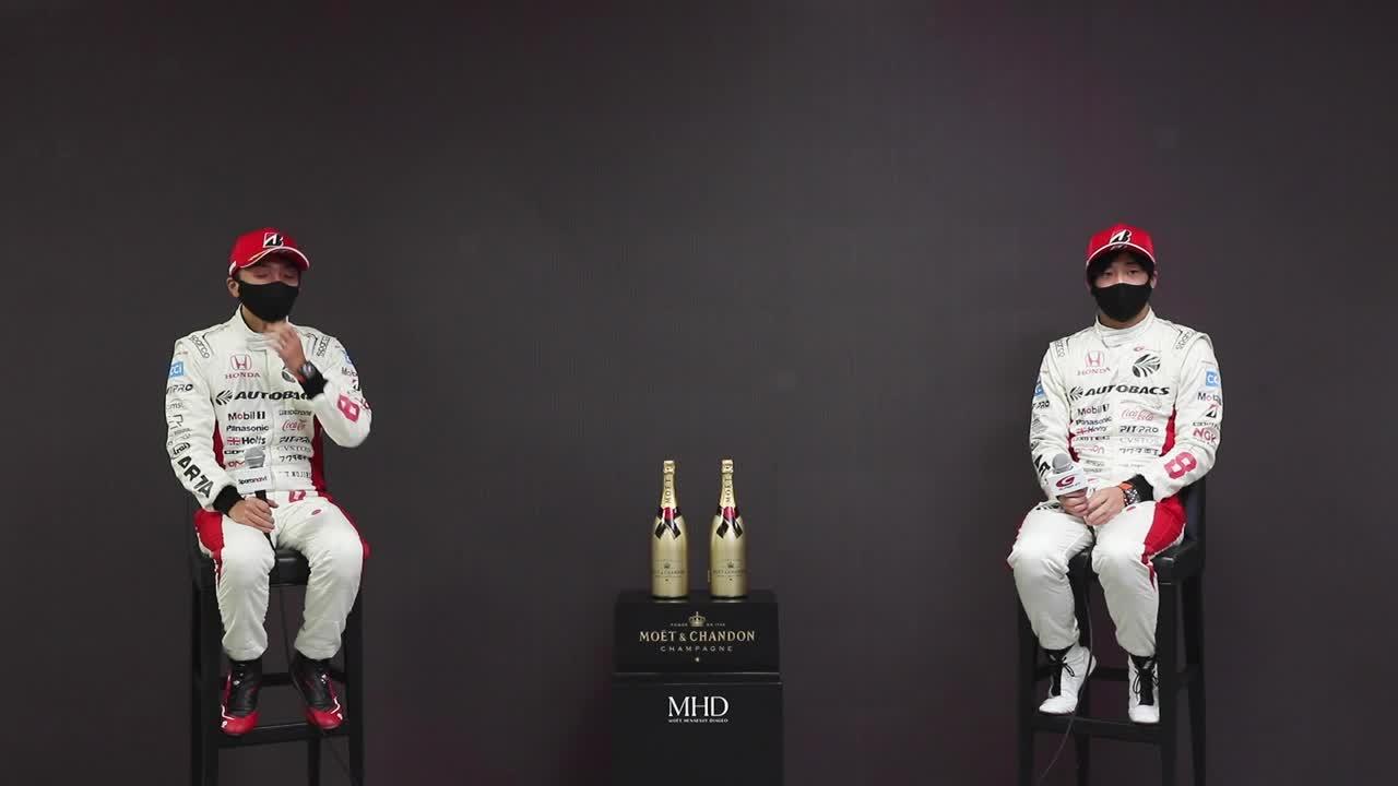 【優勝ドライバーインタビュー/GT500】野尻智紀・福住仁嶺 No.8 ARTA NSX-GT / 2021 AUTOBACS SUPER GT Rd.6 AUTOPOLIS GT 300km RACE