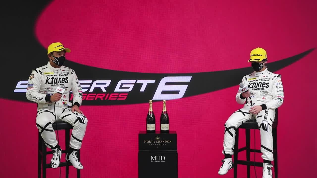 【2位表彰台/GT300】新田守男・阪口晴南 インタビュー No.96 K-tunes RC F GT3 / 2021 AUTOBACS SUPER GT Rd.6 AUTOPOLIS GT 300km RACE