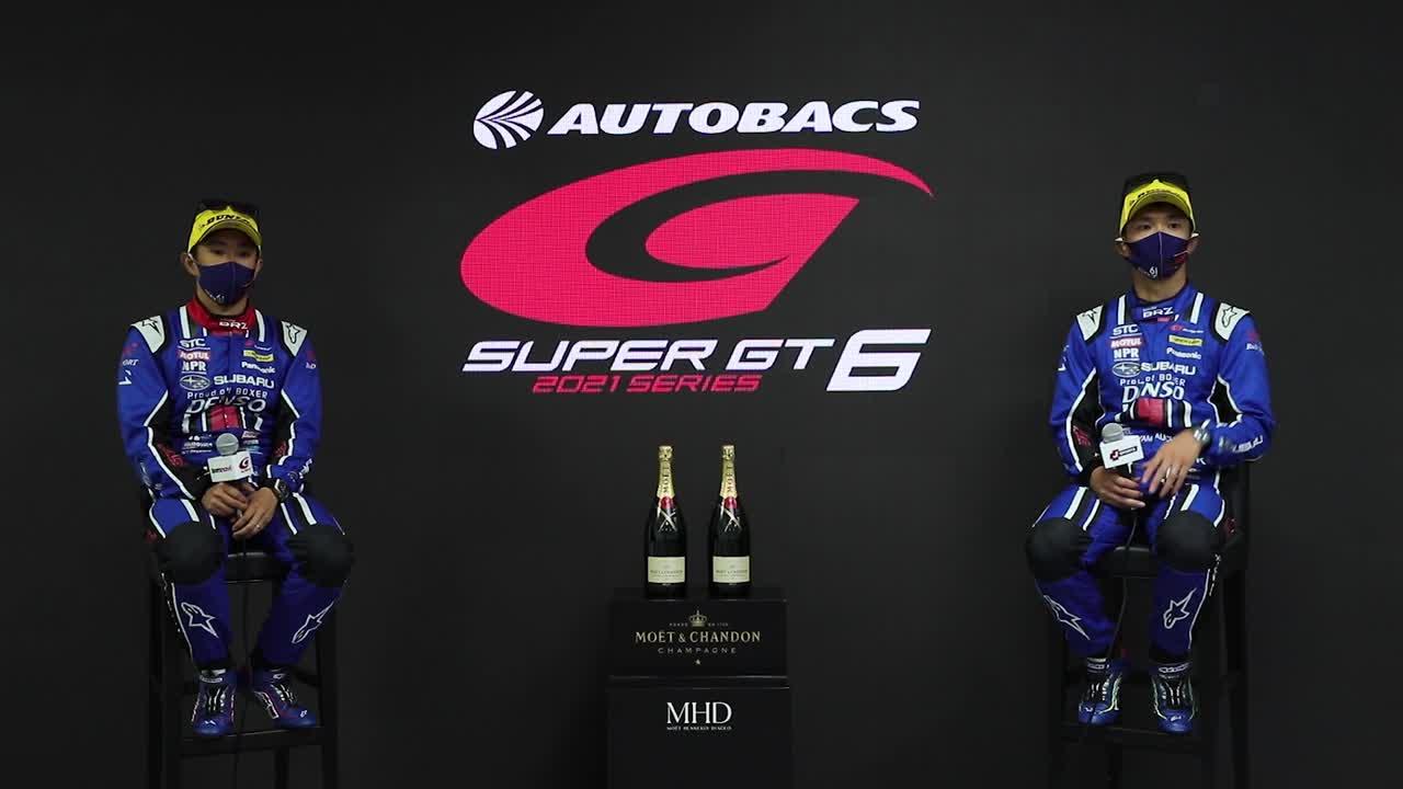 【3位表彰台/GT300】井口卓人・山内英輝 インタビュー No.61 SUBARU BRZ R&D SPORT / 2021 AUTOBACS SUPER GT Rd.6 AUTOPOLIS GT 300km RACE