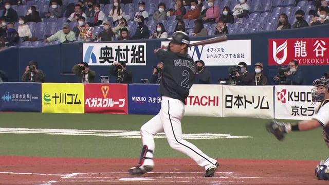【6回表】マリーンズ・藤原 レフトの頭上を越える勝ち越しタイムリー2ベースヒット!!