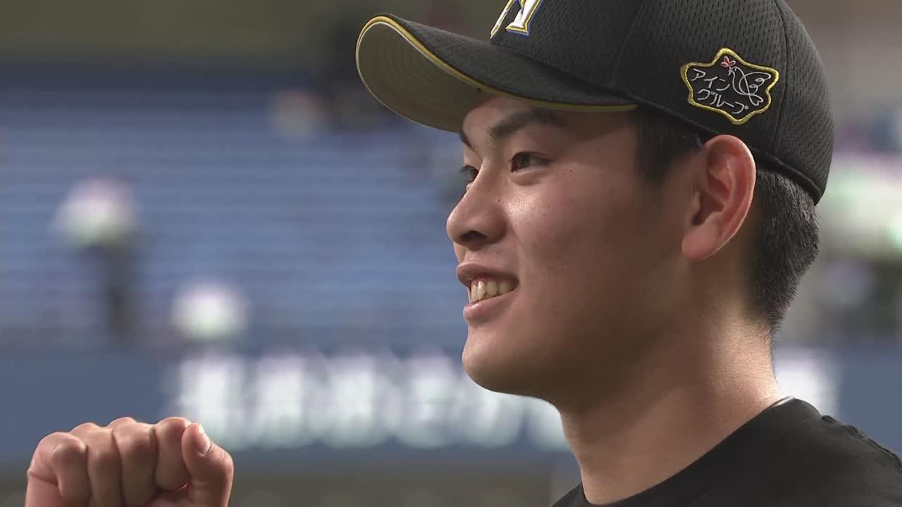 ファイターズ・野村選手ヒーローインタビュー 4/10 B-F