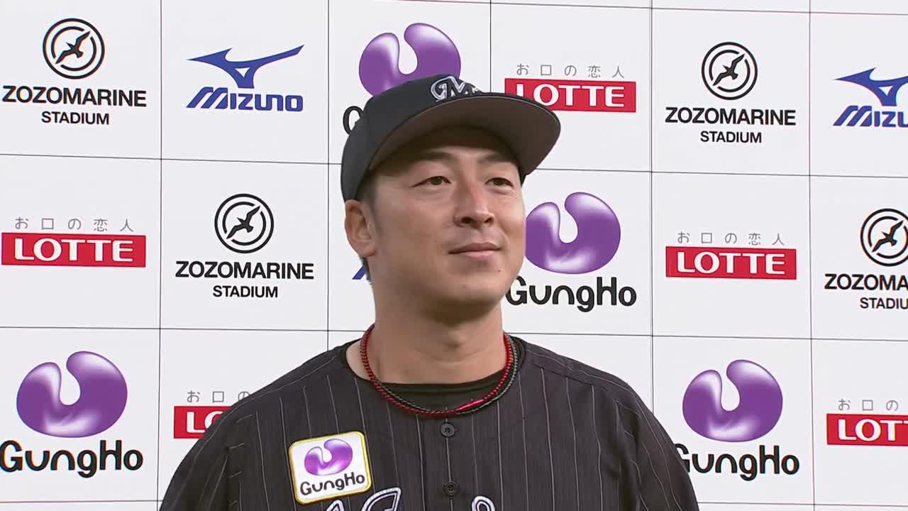 マリーンズ・美馬投手ヒーローインタビュー 4/10 M-L
