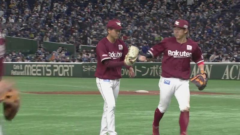 【8回裏】イーグルス・早川 8回を1失点の好投!! 最後は三振で締める!! 2021/4/18 F-E