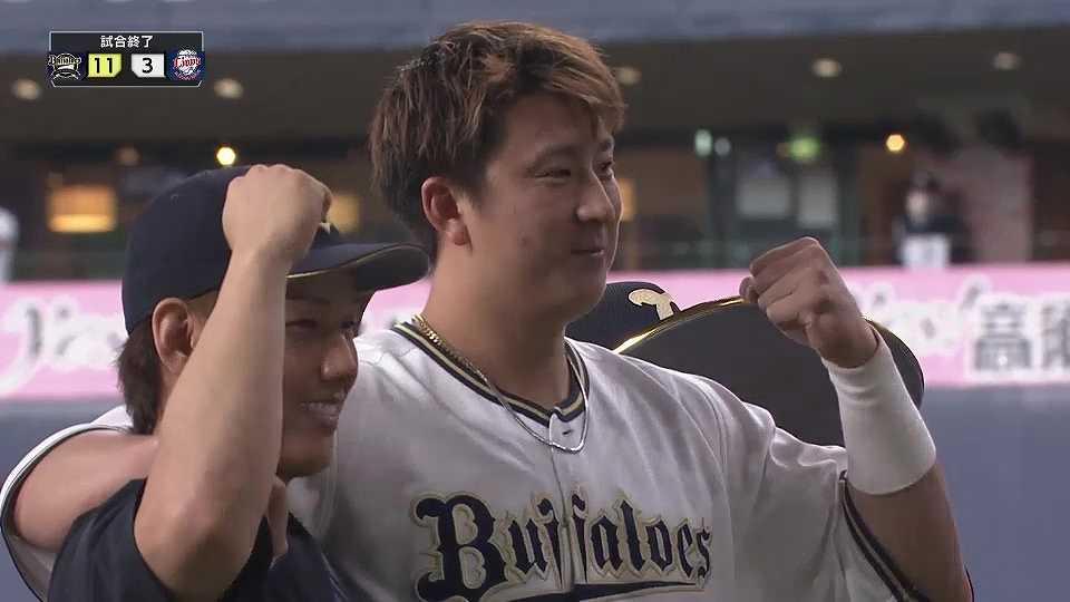 バファローズ・杉本選手・吉田正選手ヒーローインタビュー 4/20 B-L