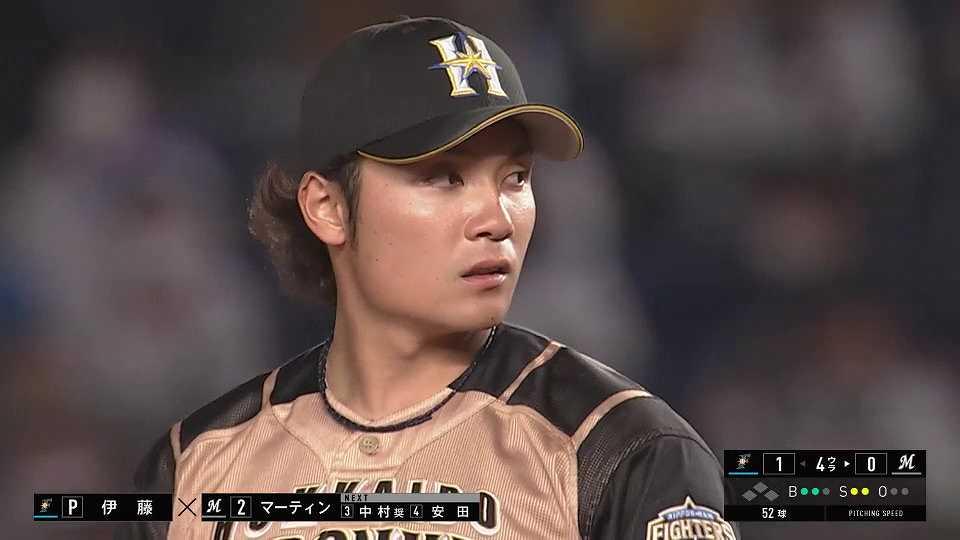 【4回裏】ファイターズ・伊藤 球団記録タイの23イニング連続奪三振を達成!! 2021/4/21 M-F