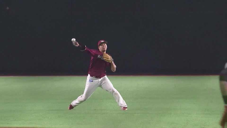 【5回裏】イーグルス・浅村 難しい打球を華麗に捌くファインプレー!! 2021/4/21 H-E