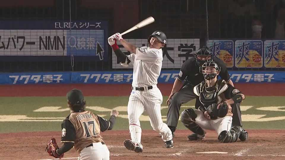 【7回裏】マリーンズ・安田 ライトスタンドへ2ランホームラン!! 2021/4/21 M-F