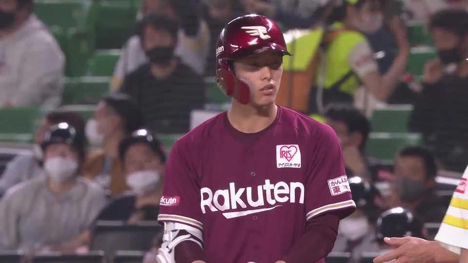 【4回表】イーグルス・辰己 一二塁間を抜けるタイムリーを放ち追加点!! 2021/5/5 H-E