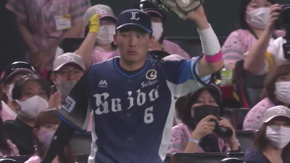 【2回裏】フェンスを恐れない!! ライオンズ・源田のスライディングキャッチ!! 2021/5/9 H-L