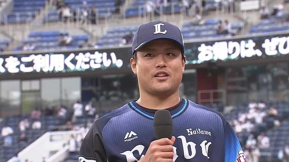 ライオンズ・松本投手ヒーローインタビュー 5/15 M-L