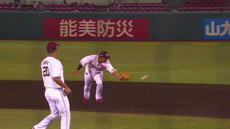 【6回表】イーグルス・浅村 華麗なグラブトスで先頭打者を打ちとる!! 2021/6/21 E-B