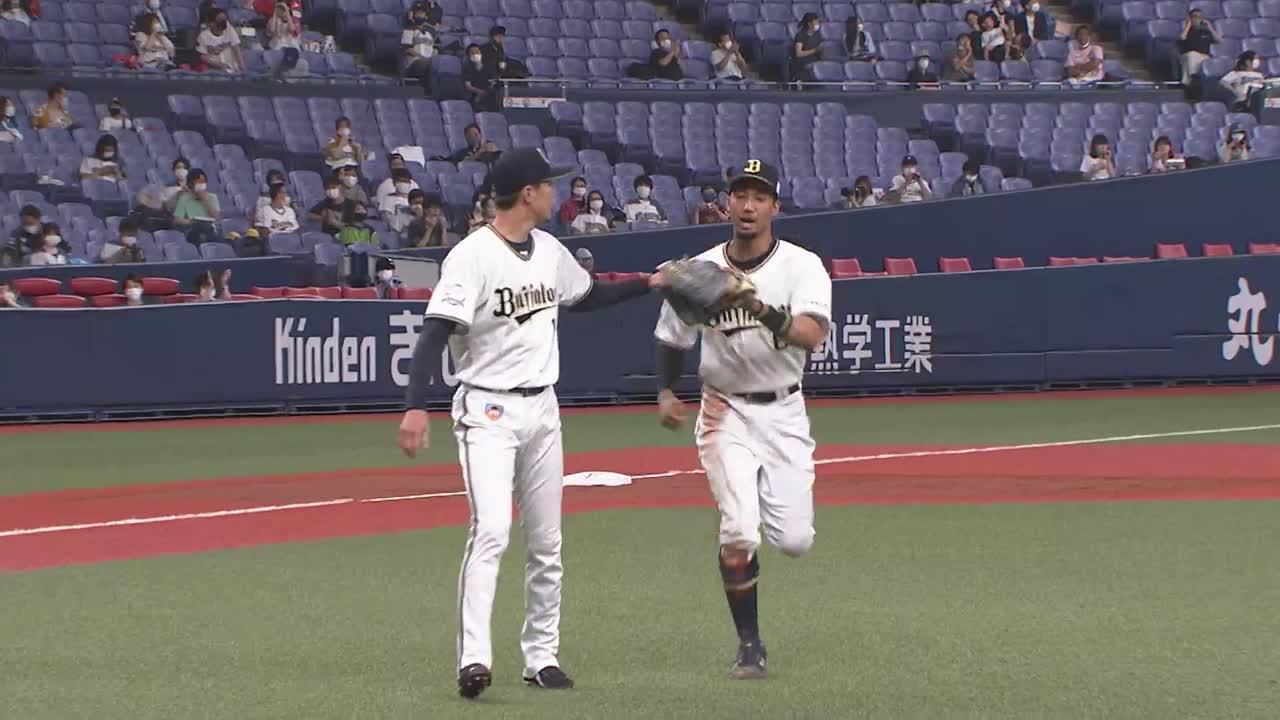 【3回表】バファローズ・宗 ピッチャーを救うファインプレー!! 2021/6/24 B-F