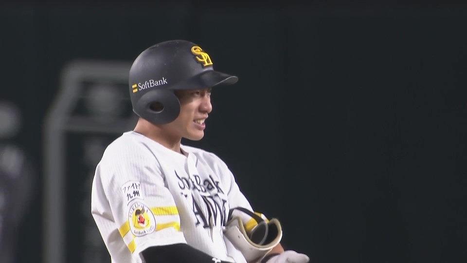 【1回裏】ホークス・柳田 フェンス直撃のタイムリー2ベースヒットを放つ!! 2021/9/16 H-M