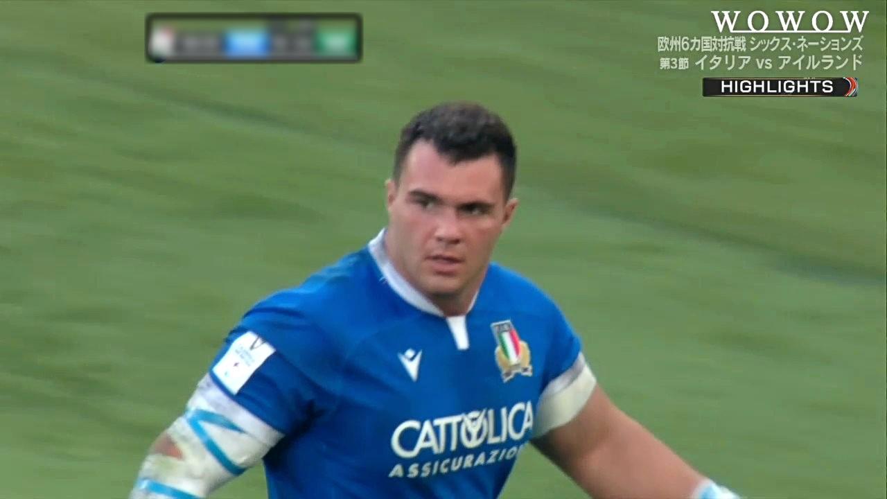 【第3節ハイライト】イタリア vs アイルランド/ラグビー欧州6カ国対抗戦 シックス・ネーションズ2021